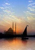Nil ve kalesi — Stok fotoğraf