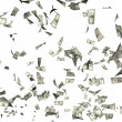 Flying money - Foto Stock