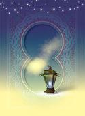 Illustration with Egyptian Lantern — Stock Photo