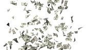 Flying money — Stock Photo