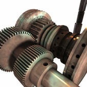 Gears and Cylinders 3D — Stock Photo