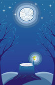 FireFly in Moonlight — Stock Vector