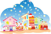 Sweet City — Stock Vector