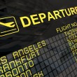 Stock Photo: International Airport Departures Board