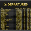 International Airport Departures Board — Stock Photo #2845163