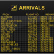 Stock Photo: International Airport Arrivals Board