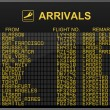 International Airport Arrivals Board - Stock Photo