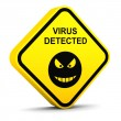 Warning: virus detected — Stock Photo