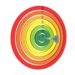 Royalty-Free Stock Photo: Target energy performance scale