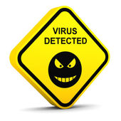 Warning: virus detected — Foto Stock