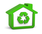 Recycled House — Stock Photo