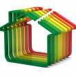 Buildings Energy Performance Scale — Stock Photo