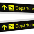 Stock Photo: Departures Sign