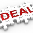 Jigsaw Puzzle Deal Word — Stock Photo