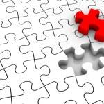 Jigsaw Puzzle Last Piece — Stock Photo
