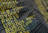 International Airport Board Close-Up — Stock Photo