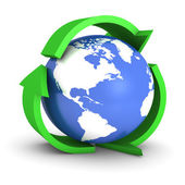 Recycle Globe — Stock Photo