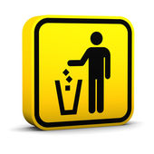 Litter Disposal Sign — Stock Photo