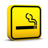 Smoke Area Sign — Stock Photo