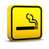 Sinal de fumaça de área — Fotografia Stock