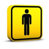 Men Toilets Sign — Stock Photo