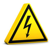 Electric Hazard Sign — Stock Photo