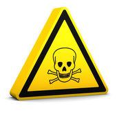 毒药标志 — 图库照片