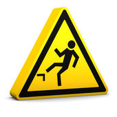 Risk of Falling Sign — Stock Photo