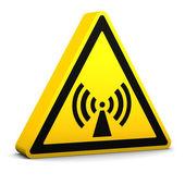 Nicht ionisierende Strahlung Schild — Stockfoto