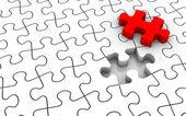 Puzzle letzte stück — Stockfoto