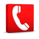 Red Telephone Sign — Stock Photo