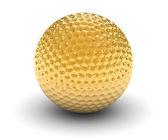 Golden Golf Ball — Stock Photo