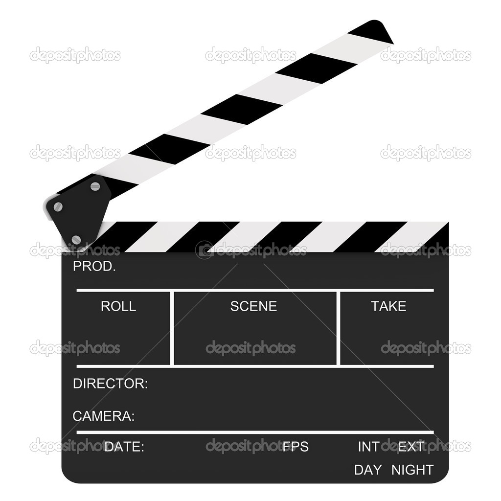 Opened clapboard isolated on a white background — Stock Photo #2850924