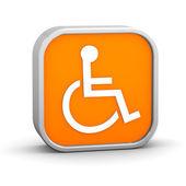 Orange Accessibility Sign — Stock Photo