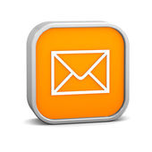 Orange Mail Sign — Stock Photo