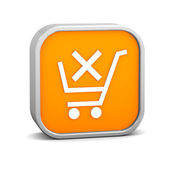 Orange Remove from Cart Sign — Stock Photo