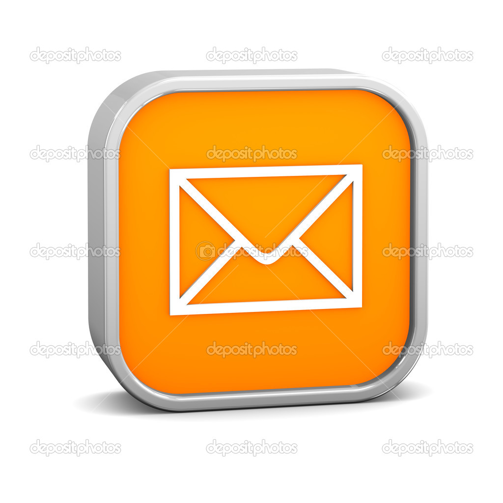 Orange Mail Sign - Stock Image
