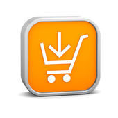 Orange Add to Cart Sign — Stock Photo