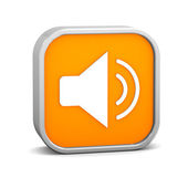 Orange Enable Audio Sign — Stock Photo
