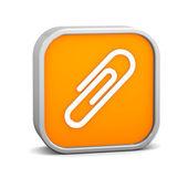 Oranžové připojit znak — Stock fotografie