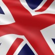 United Kingdom flag in the wind — Stock Photo #3132470