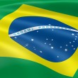 Royalty-Free Stock Photo: Brazilian flag in the wind