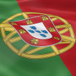 Royalty-Free Stock Photo: Portuguese flag in the wind
