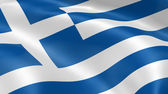 Greece flag in the wind — Stock Photo