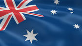 Australian flag in the wind — Stock Photo