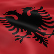 Stock Photo: Albaniflag in wind
