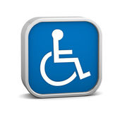 Dark Blue Accessibility Sign — Stock Photo