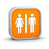 Servizi igienici segno — Foto Stock