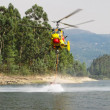 Helicopter fighting fire — Stock Photo #3654420