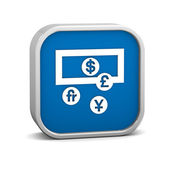 Currency Exchange Sign — Stock Photo